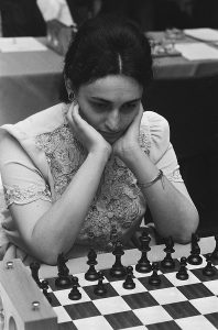 Maia Chiburdanidze, former women's world chess champion and one of the highest rated women of all time.
